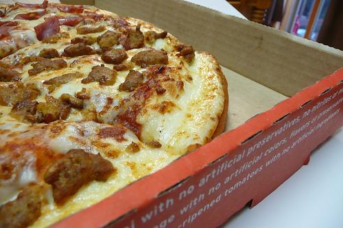 Pizza Hut Stuffed-Crust Pan Pizza - Closeup