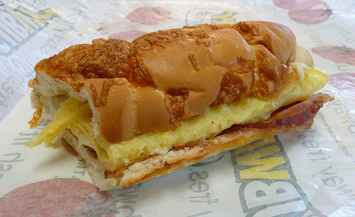 Subway Bacon and Egg