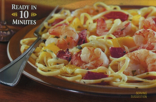 Bertolli Shrimp Scampi and Linguine - Ad