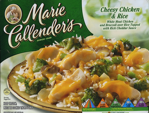 Marie Callender's Cheesy Chicken & Rice - Ad