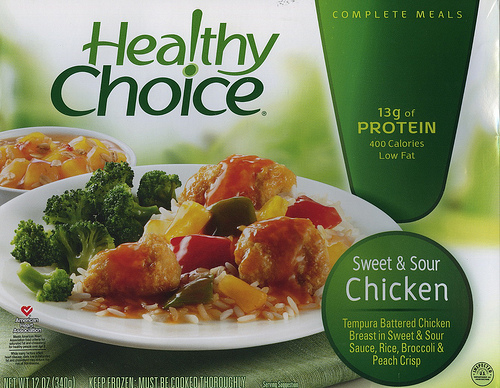Healthy Choice Sweet & Sour Chicken - Ad