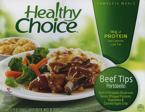 Healthy Choice Beef Tips Portabello - Ad
