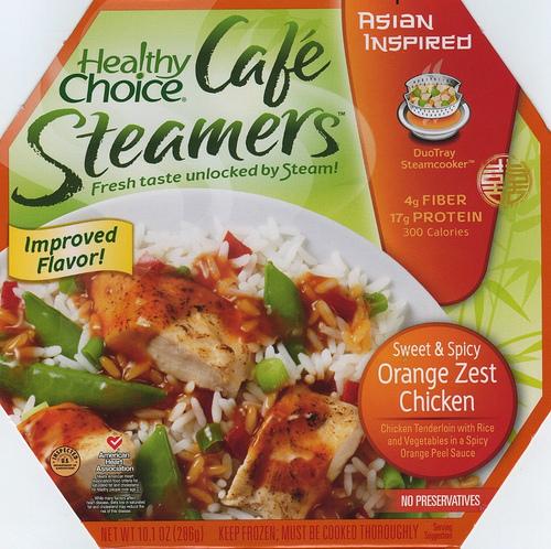 Healthy Choice Orange Zest Chicken Cafe Steamer - Ad