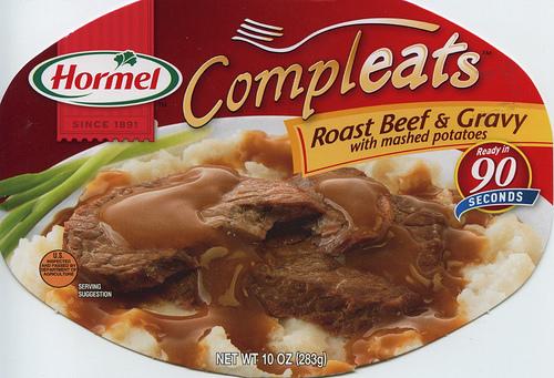 Hormel Compleats Roast Beef & Gravy - Ad