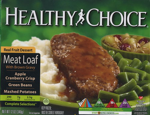 Healthy Choice Meat Loaf - Ad