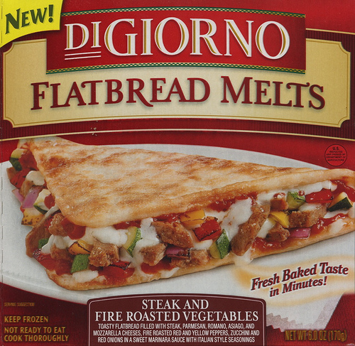 Digiorno Steak and Fire Roasted Vegetables Flatbread Melt - Ad