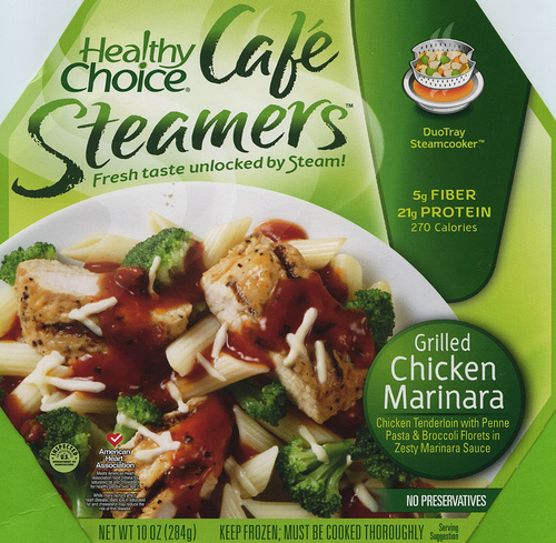 Healthy Choice Grilled Chicken Marinara Cafe Steamer - Ad