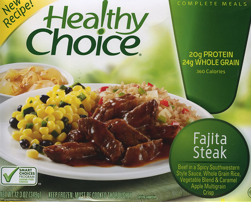 Healthy Choice Fajita Steak - Ad