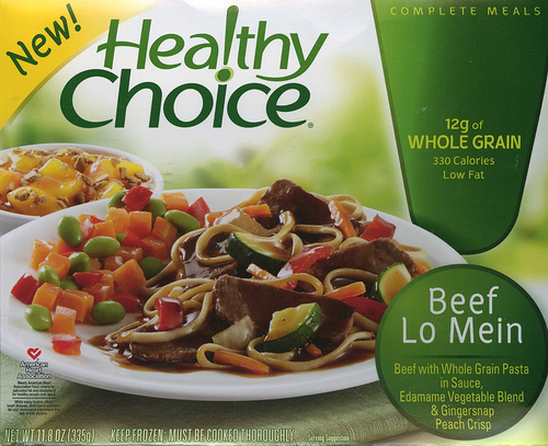 Healthy Choice Beef Lo Mein - Ad