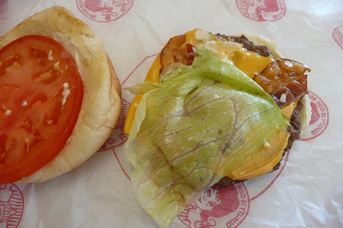 Wendy's Jr Bacon Cheeseburger - Inside