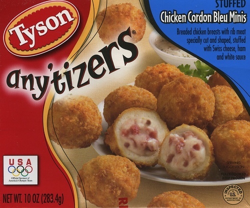 Tyson Anytizers Stuffed Chicken Cordon Bleu Minis - Ad