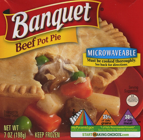Banquet Beef Pot Pie - Ad