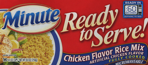 Minute Ready to Serve Chicken Flavor Rice - Ad