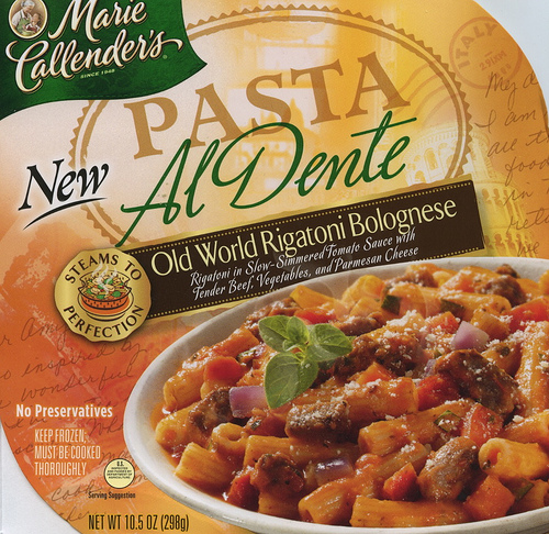Marie Callender's Old World Rigatoni Bolognese - Ad