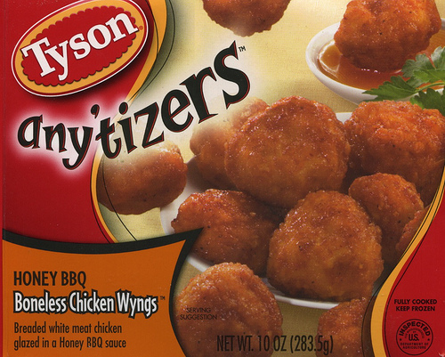 Tyson Anytizers Honey BBQ Boneless Chicken Wings - Ad