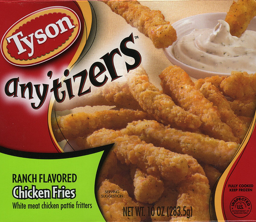 Tyson Anytizers Ranch Flavored Chicken Fries - Ad