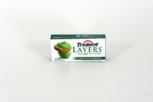 Trident Green Apple Layers - Ad