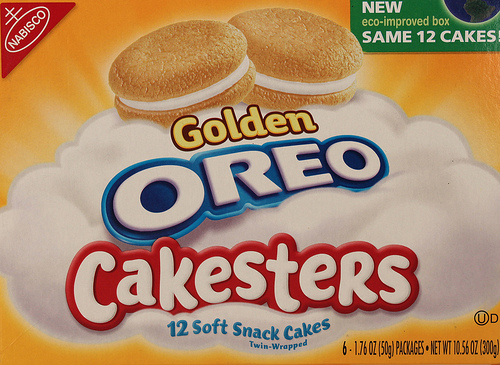 Golden Oreo Cakesters - Ad