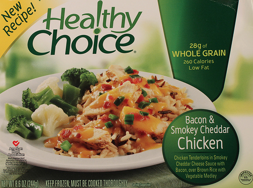Healthy Choice Bacon & Smokey Cheddar Chicken - Ad
