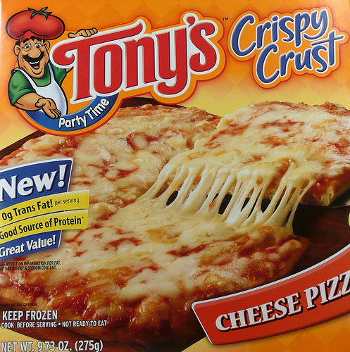 Tony's Crispy Crust Cheese Pizza - Ad