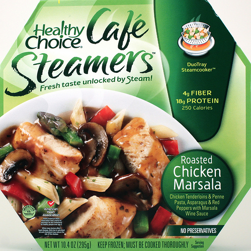 Healthy Choice Roasted Chicken Marsala Cafe Steamer - Ad
