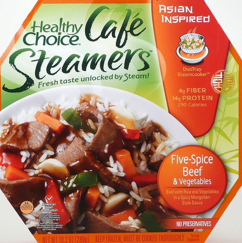 Healthy Choice Five-Spice Beef & Vegetables Cafe Steamer - Ad