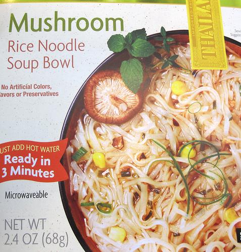 Trader Joe's Mushroom Rice Noodle Bowl - Ad