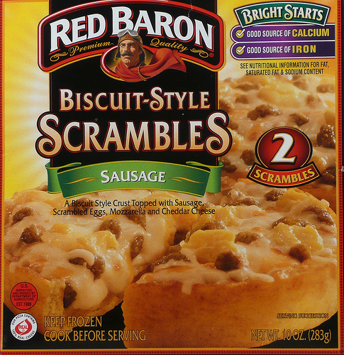 Red Baron Sausage Biscuit-Style Scrambles - Ad