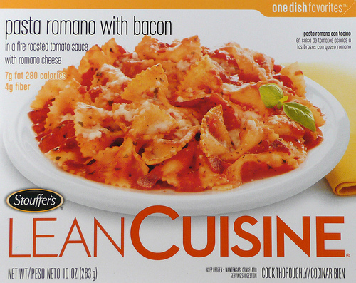Lean Cuisinse Pasta Romano with Bacon - Ad
