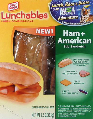 Lunchables Ham and American Cheese Sub Sandwich - Ad