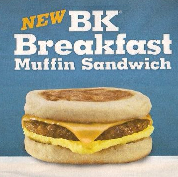 Burger King Breakfast Muffin Sandwich - Ad