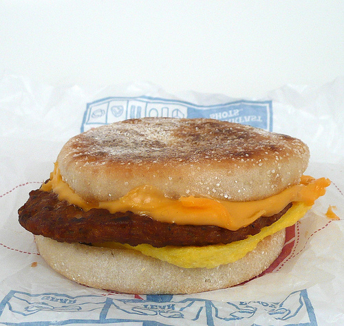 Burger King Breakfast Muffin Sandwich