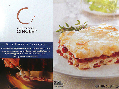 Culinary Circle Five Cheese Lasagna - Ad